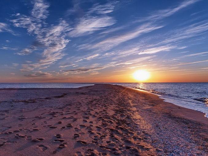 Коса Долгая, Азовское море, фото Козинцев