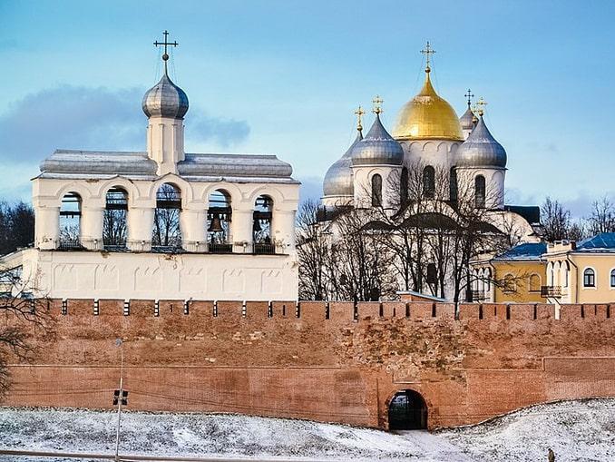 Звонница Софийского собора в Великом Новгороде