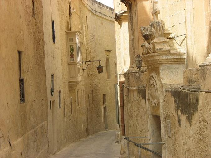 Улочка в Мдине, Мальта