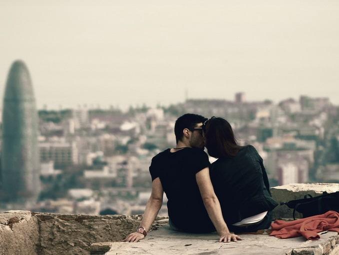 Барселона, влюбленные