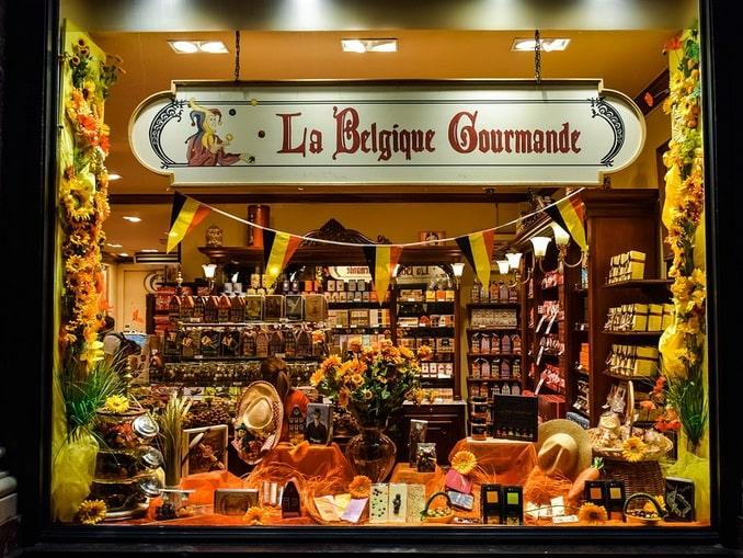 Магазин шоколада, Бельгия