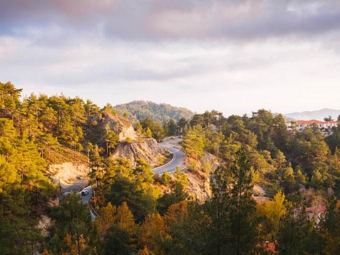 Кипр, горная дорога
