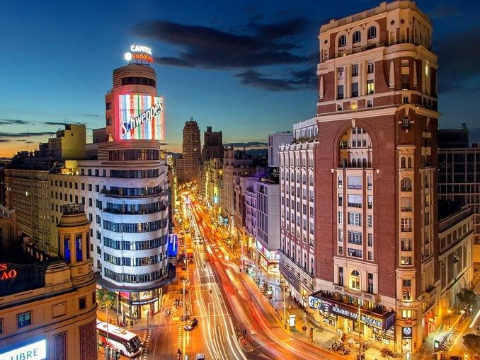 Мадрид, Испания, ночь