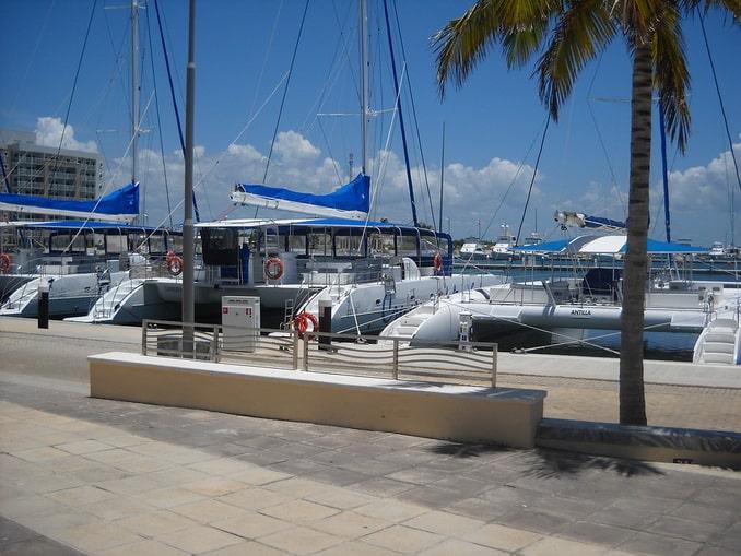 Яхты в Варадеро на Кубе