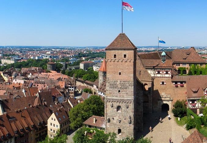 Замок Нюрнберга, вид с Сильвертурм