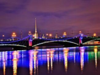 Санкт-Петербург, осень, ночь