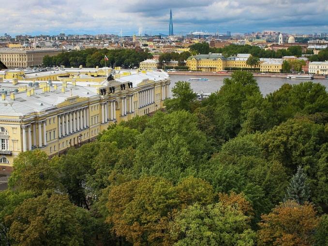 Санкт-Петербург в начале сентября, вид с Исаакиевского собора