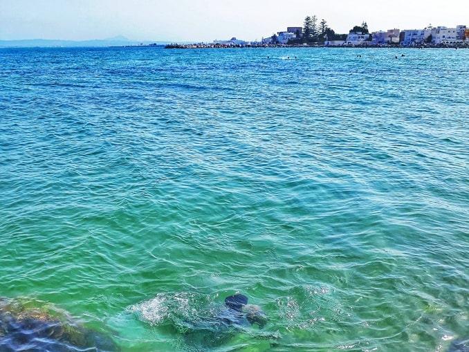 Тунис, цвет моря