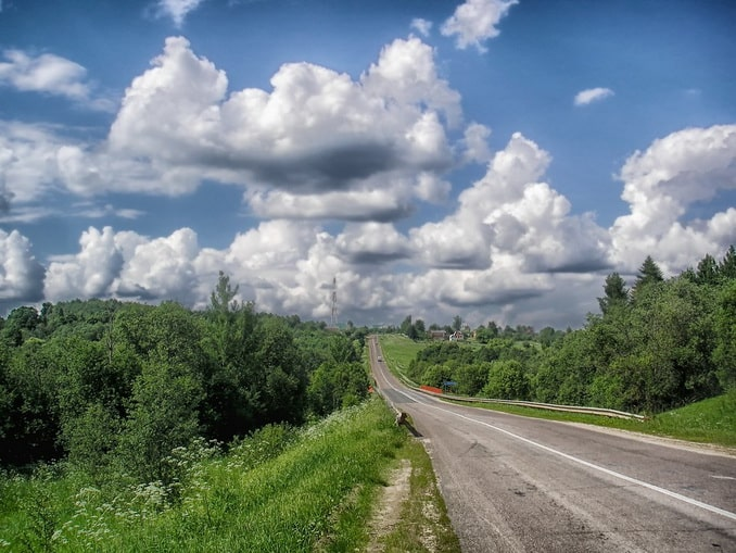 Россия, шоссе из Москвы
