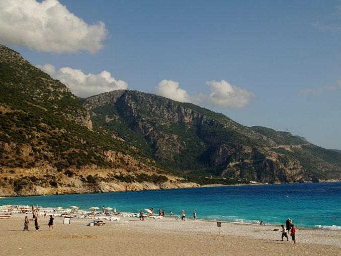 Пляж под Мармарисом в Турции