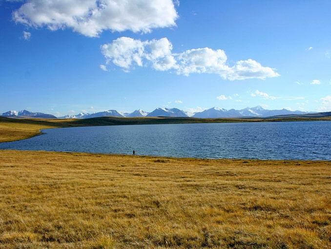 Озеро Кальджинкуль на плато Укок