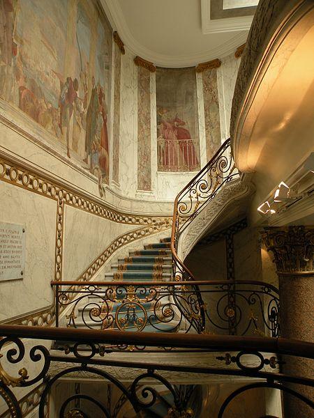 Лестница в музее Жакмар-Андре в Париже
