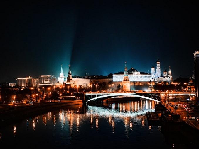 Москва зимой, Россия