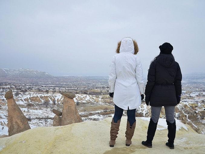 Каппадокия в январе, пейзаж