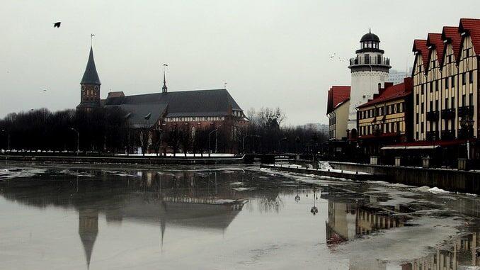 В январе в Калининграде часто стоит промозглая погода