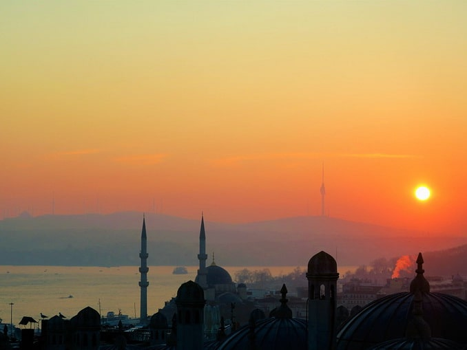Январский Стамбул, вид на Босфор
