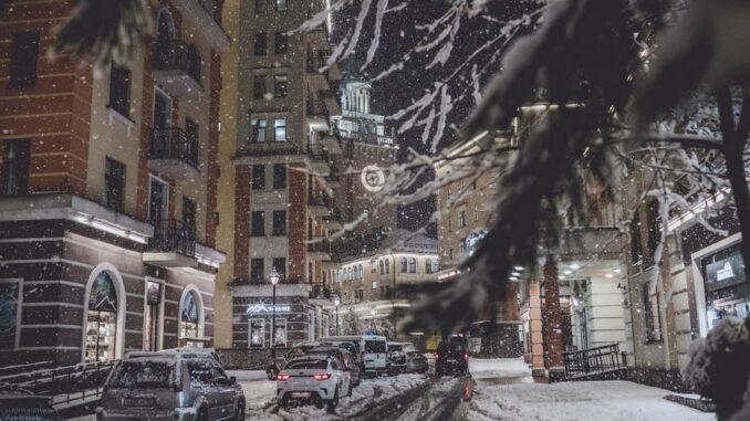 Роза Хутор, Россия, январь