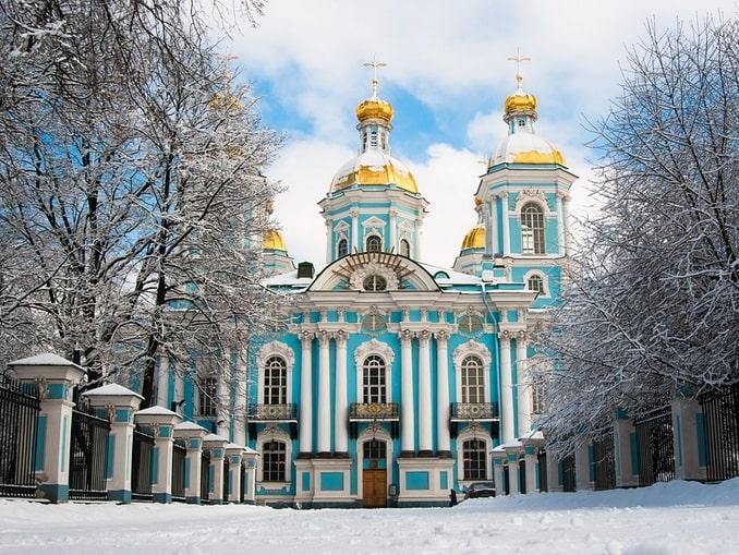 Никольский собор в Санкт-Петербурге зимой
