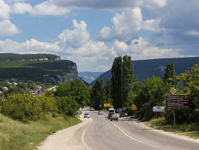 Дорога в Бахчисарай из Севастополя, Крым