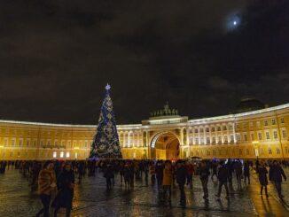 Санкт-Петербург, Дворцовая площадь, январь