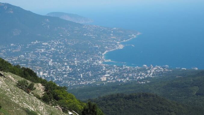 Ялта, Крым, вид с Ай-Петри