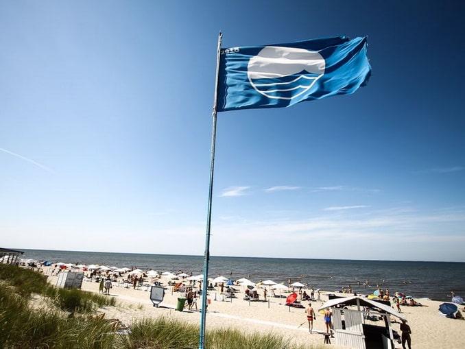 Пляж в Янтарном, лето, Калининградская область