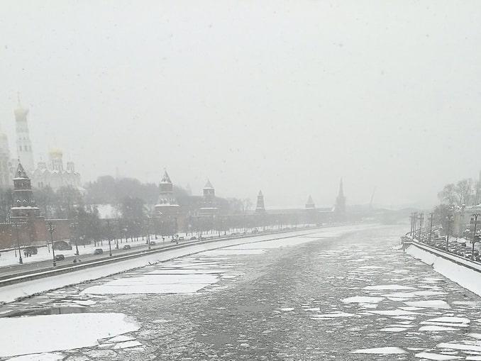 Река Москва, Россия, зима