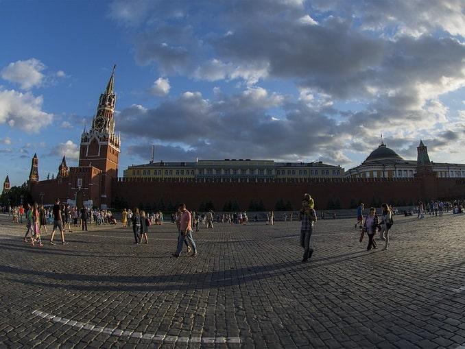 Красная площадь и Спасская башня, Москва