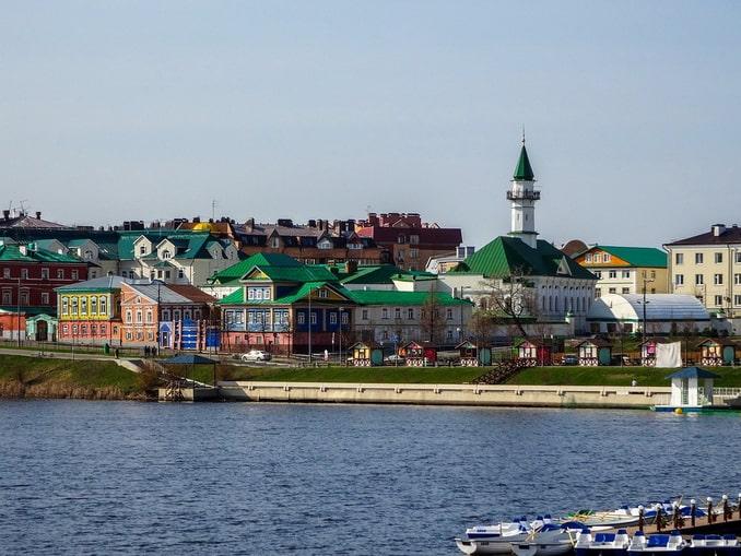 Старая Татарская слобода в Казани, весна