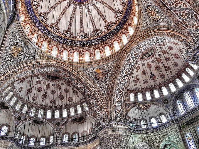 Голубая мечеть - фото внутри