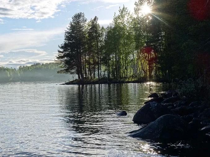 Озеро в Карелии в августе