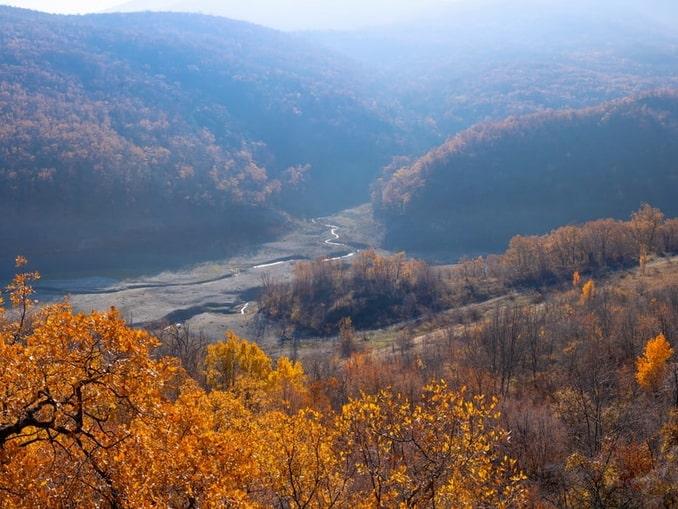 Горы - под Алуштой в конце ноябре