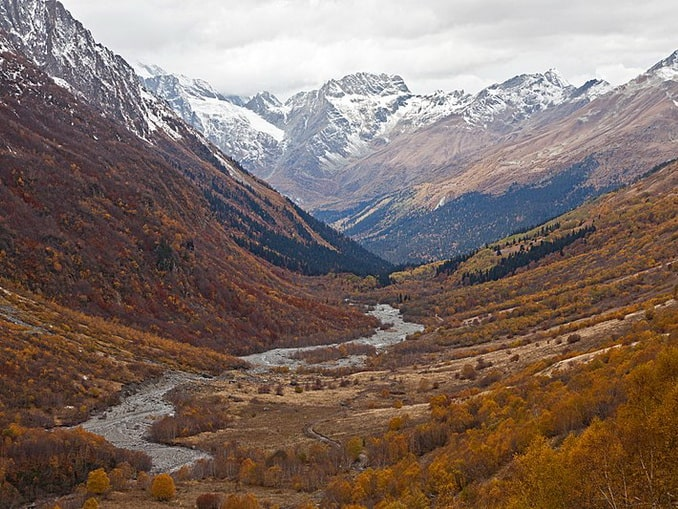 Природа Домбая в октябре прекрасна, фото Слесарев Олег Викторович