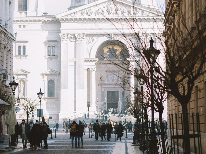 В январе в Будапеште стоит холодная погода