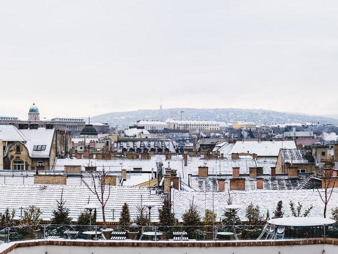 Будапешт в январе часто видит снег